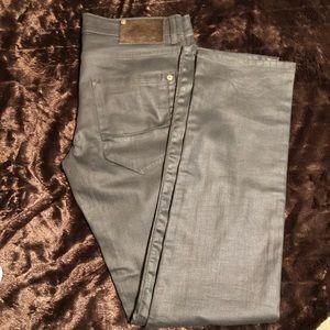 Zara wax coated grey Men's jeans 32 x 33